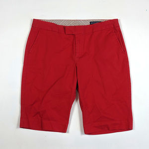 Banana Republic Bermuda Size 10 Stretch Red Shorts
